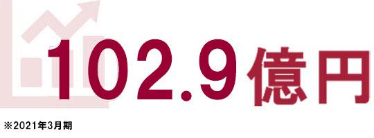 101.9億円 ※2018年3月期